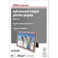 Office Depot Fotopapier Glanzend 100 x 150mm 280 g/m² Wit Pak van 50