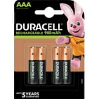 Piles rechargeables Duracell Recharge Ultra AAA HR03 900mAh NiMH 1,2V 4 Unités