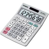Casio Bureaurekenmachine MS-88ECO 8-cijferige display Grijs