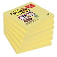 Post-it Super Sticky Notes 76 x 76 mm Canary Yellow Geel 90 Vellen 5 + 1 GRATIS