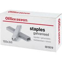 Office Depot Nietjes 24/6 1000 Nietjes chrome