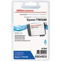Office Depot Compatibel Epson 18XL Inktcartridge T181240 Cyaan