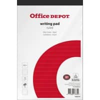 Bloc-notes Office Depot Blanc A5+ Ligné 100 feuilles Paquet de 5