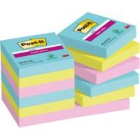 Post-it Super Sticky Notes 47,6 x 47,6 mm Miami Kleuren 12 Blokken van 90 Vellen